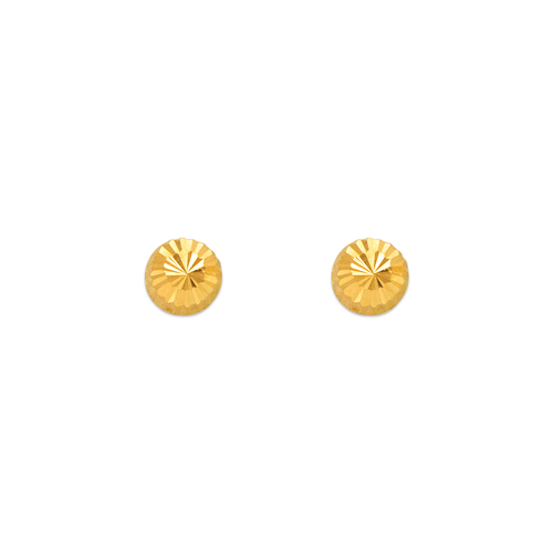 343-012 4mm Diamond Cut Stud Earrings