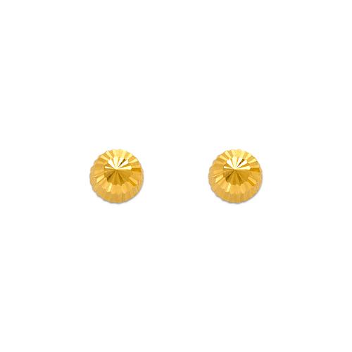 343-013 5mm Diamond Cut Stud Earrings