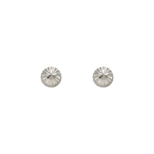 343-012W 4mm Diamond Cut Stud Earrings