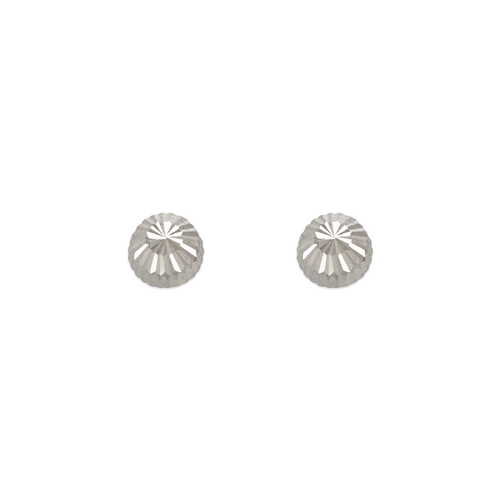 343-013W 5mm Diamond Cut Stud Earrings