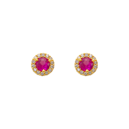 343-162RD 4mm Red Round CZ Stud Earrings