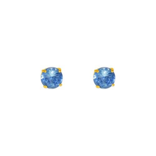 543-102LB Light Blue Aquamarine Birthstone CZ Screwback Stud Earrings