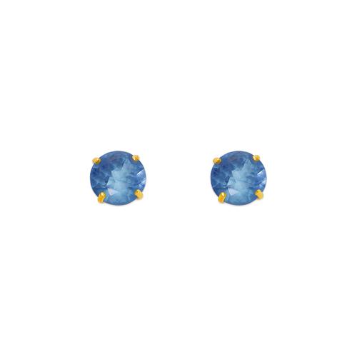 543-103LB Light Blue Aquamarine Birthstone CZ Screwback Stud Earrings