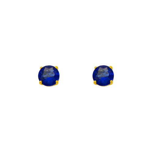 543-102BL Dark Blue Sapphire Birthstone CZ Screwback Stud Earrings