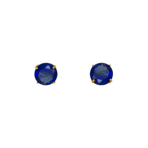 543-103BL Dark Blue Sapphire Birthstone CZ Screwback Stud Earrings