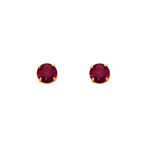 543-102DR Dark Red Garnet Birthstone CZ Screwback Stud Earrings