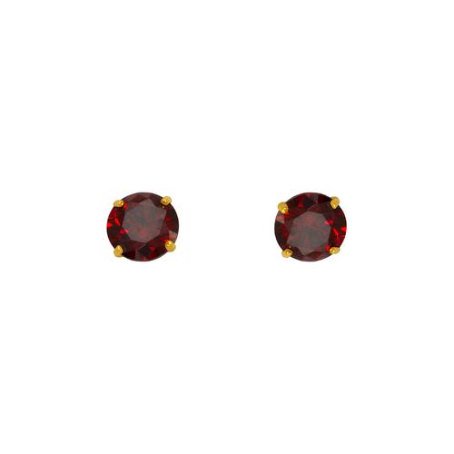 543-103DR Dark Red Garnet Birthstone CZ Screwback Stud Earrings