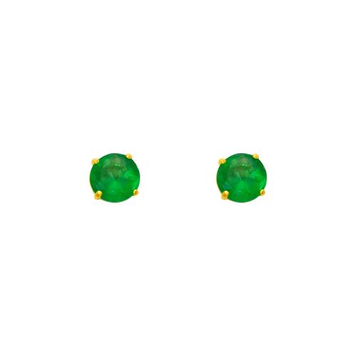543-102GR Green Emerald Birthstone CZ Screwback Stud Earrings