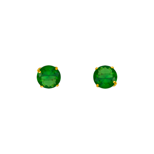 543-103GR Green Emerald Birthstone CZ Screwback Stud Earrings