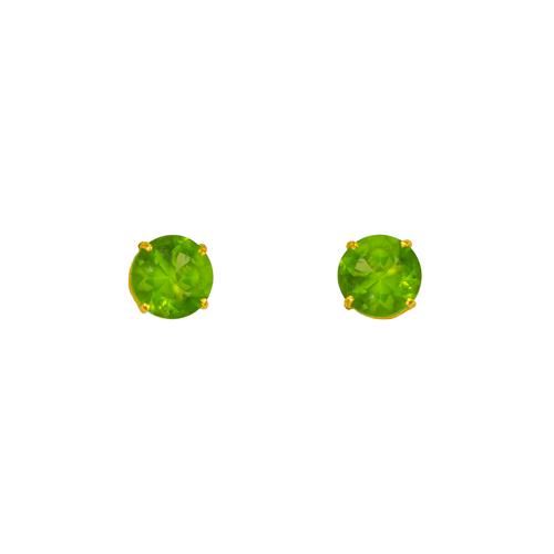 543-103LG Light Green Peridot Birthstone CZ Screwback Stud Earrings