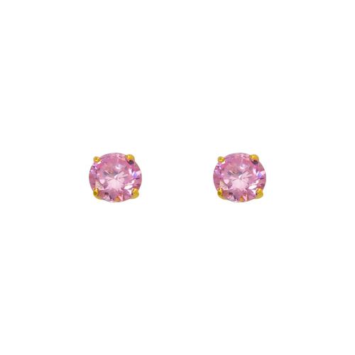 543-102PK Pink Birthstone CZ Screwback Stud Earrings