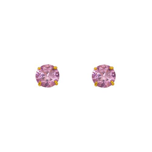 543-103PK Pink Birthstone CZ Screwback Stud Earrings