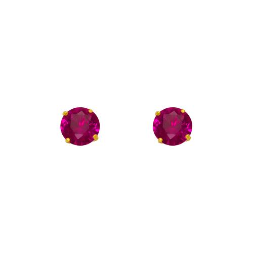543-103RD Ruby Birthstone CZ Screwback Stud Earrings