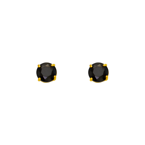 543-102BK Black CZ Screwback Stud Earrings
