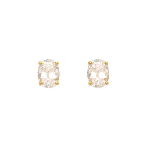 543-112 Oval Cut CZ Stud Earrings