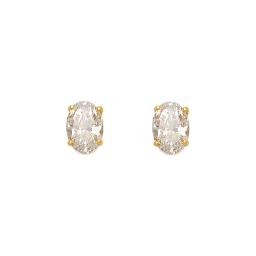 543-113 Oval Cut CZ Stud Earrings