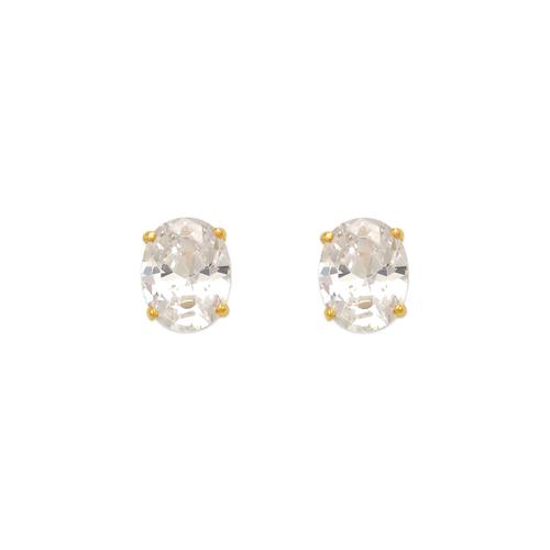 543-114 Oval Cut CZ Stud Earrings