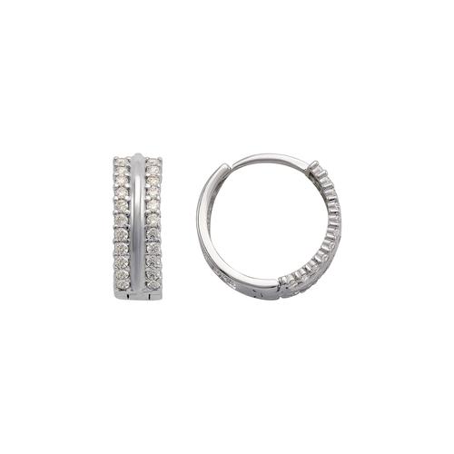 243-209W Huggie CZ Earrings