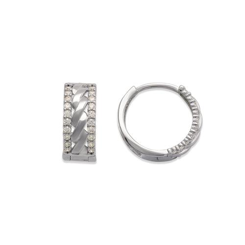 243-211W Huggie CZ Earrings