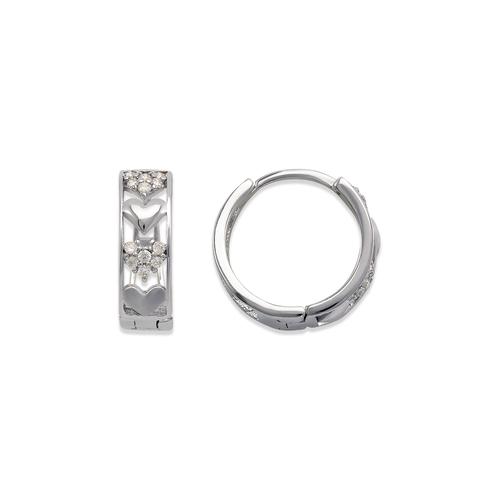 243-214W Huggie CZ Earrings