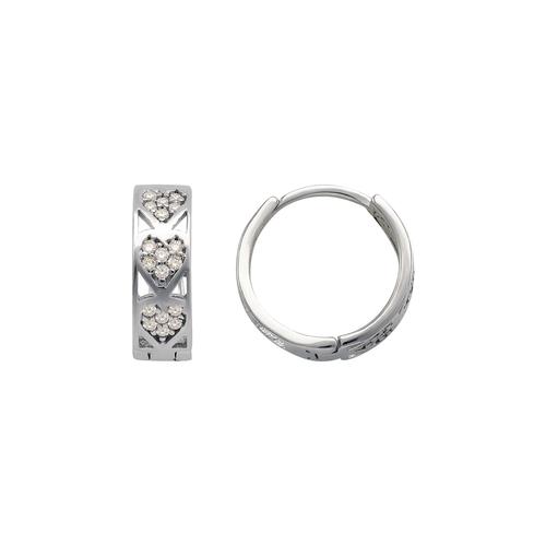 243-215W Huggie CZ Earrings