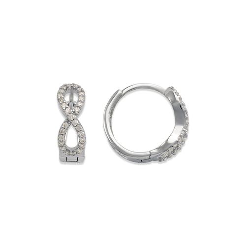 243-218W Huggie CZ Earrings