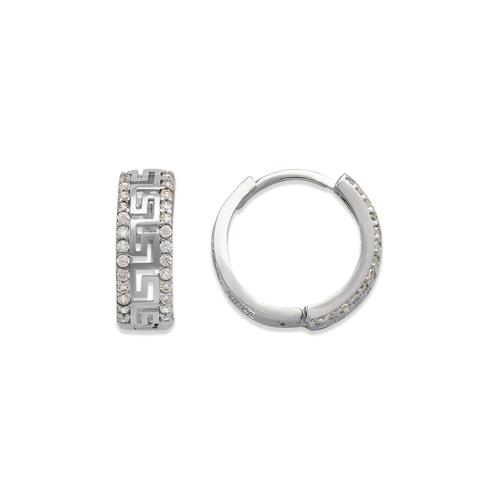 243-219W Huggie CZ Earrings