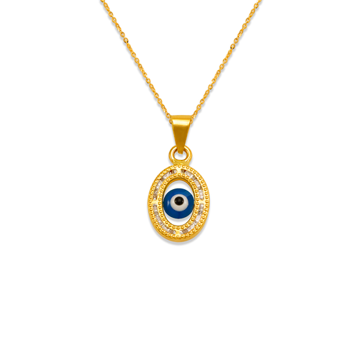 367-076 Evil Eye CZ Pendant