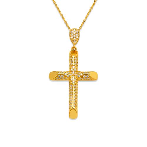 263-110 Fancy Cross CZ Pendant