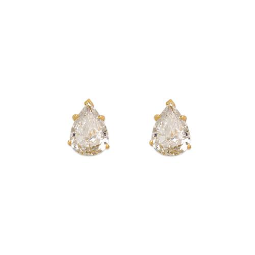 543-117 Teardrop Cut CZ Stud Earrings