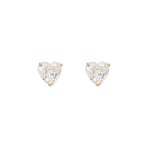 543-123 Heart Cut CZ Stud Earrings