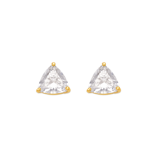 543-127 Rounded Triangle Cut CZ Stud Earrings