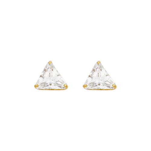 543-130 Triangle Cut CZ Stud Earrings