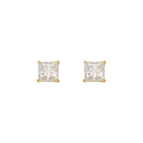 543-132 Princess Cut CZ Stud Earrings