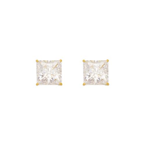 543-134 Princess Cut CZ Stud Earrings