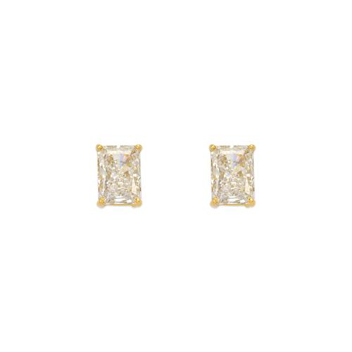 543-136 Cushion Cut CZ Stud Earrings