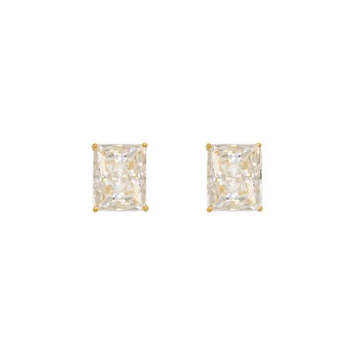 543-138 Cushion Cut CZ Stud Earrings