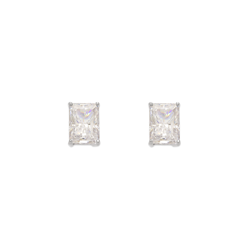 543-136W Cushion Cut CZ Stud Earrings