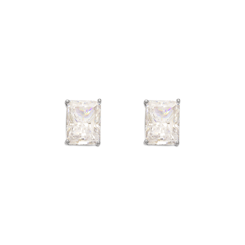 543-137W Cushion Cut CZ Stud Earrings