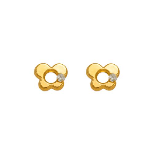 343-433WH White Butterfly CZ Stud Earrings
