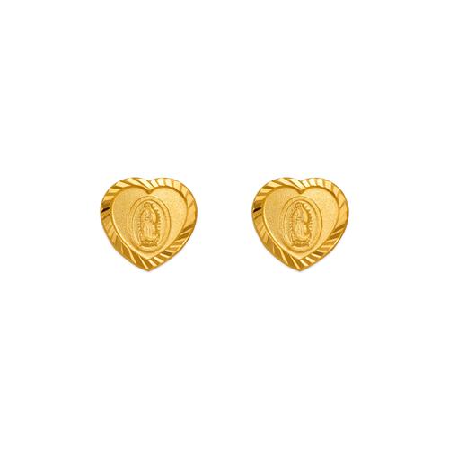 343-323 Guadalupe Heart Stud Earrings