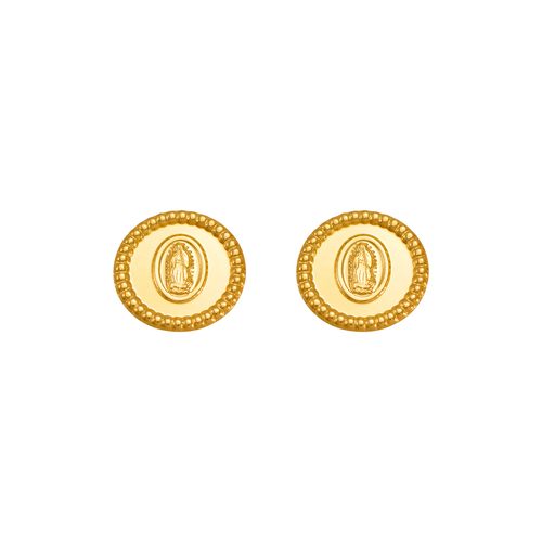 343-327 Guadalupe Bead Circle Stud Earrings