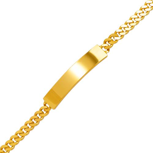 122-150-120 Curb Shiny ID Bracelet