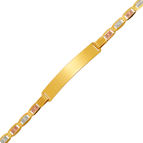 122-451T-100 Valentino Tricolor ID Bracelet