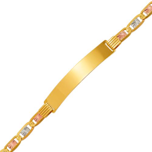 122-451T-120 Valentino Tricolor ID Bracelet