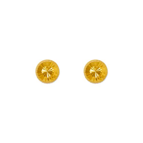 343-014 6mm Diamond Cut Stud Earrings