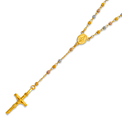 152-002T-025 Rosary Tricolor Chain