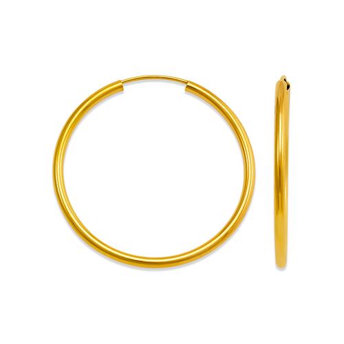 546-120S 2mm Round Tube Hoop Earrings