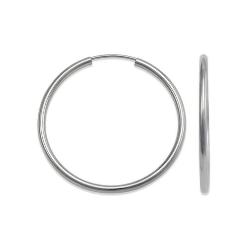 546-120WS 2mm Round Tube Hoop Earrings