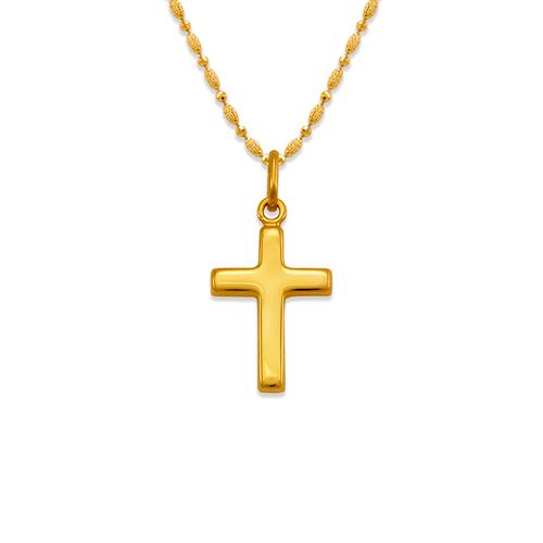 161-601 High Polished Hollow Cross Pendant